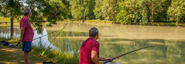 canne à pêche et camping